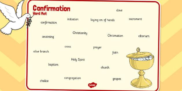 Confirmation Word Mat - confirmation, word mat, word, mat, words