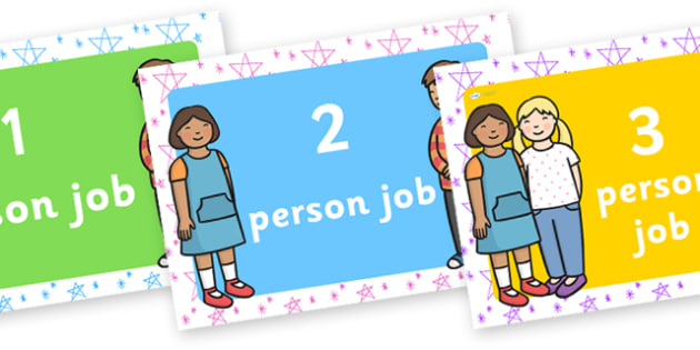 1 5 Person Job Posters - person, job, poster, display poster, class display, literacy display, english display, poster for display, classroom display