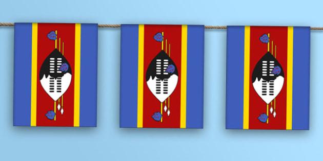 Swaziland Flag Bunting - swaziland flag, bunting, display bunting, display, bunting, swaziland, flag