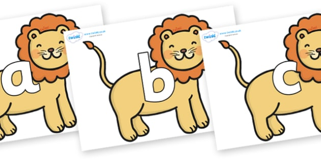 Phoneme Set on Lions - Phoneme set, phonemes, phoneme, Letters and Sounds, DfES, display, Phase 1, Phase 2, Phase 3, Phase 5, Foundation, Literacy