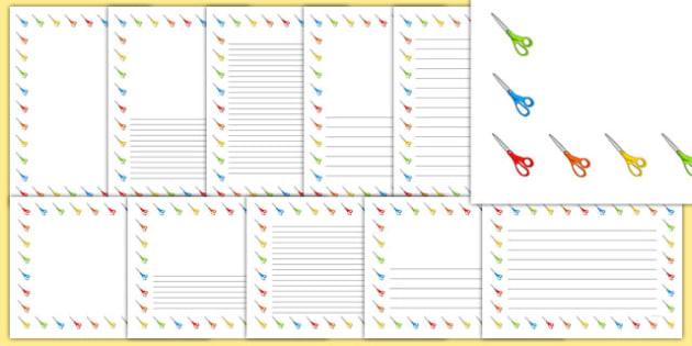 Scissors Page Borders - scissors, page borders, page, borders