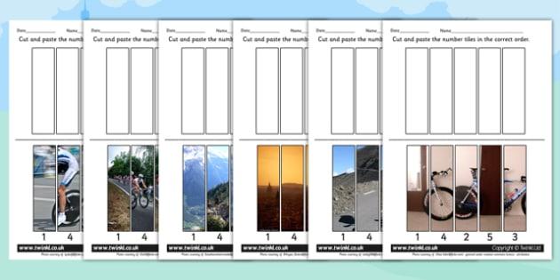 Tour de France Photo Number Sequencing Puzzles - le tour, order