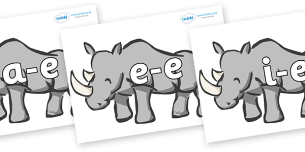Modifying E Letters on Rhinos - Modifying E, letters, modify, Phase 5, Phase five, alternative spellings for phonemes, DfES letters and Sounds
