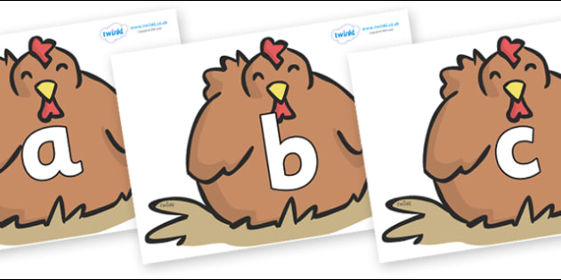 Phoneme Set on Chickens - Phoneme set, phonemes, phoneme, Letters and Sounds, DfES, display, Phase 1, Phase 2, Phase 3, Phase 5, Foundation, Literacy