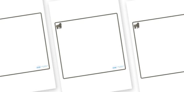 Gorilla Themed Editable Classroom Area Display Sign - Themed Classroom Area Signs, KS1, Banner, Foundation Stage Area Signs, Classroom labels, Area labels, Area Signs, Classroom Areas, Poster, Display, Areas
