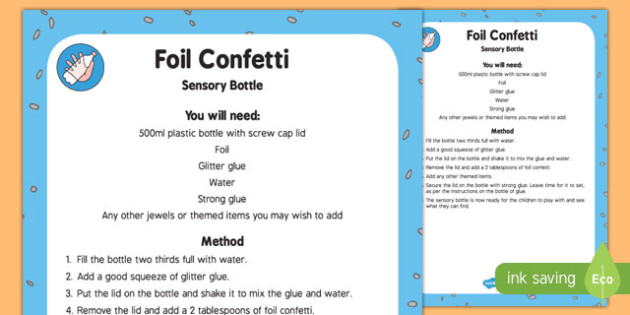 Foil Confetti Sensory Bottle