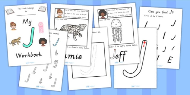 My Workbook J Uppercase - letter formation, fine motor skills