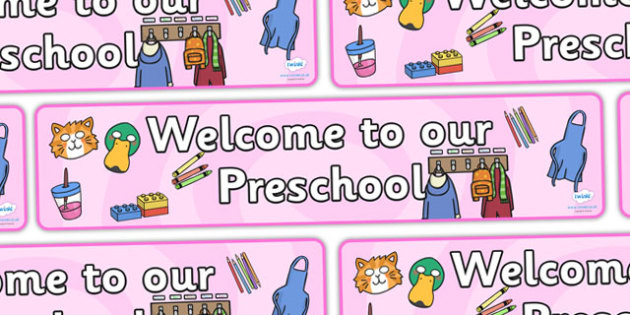 Preschool Display Banner - Welcome classroom sign, welcome, welcome sign, door sign, class sign, preschool sign, class door sign