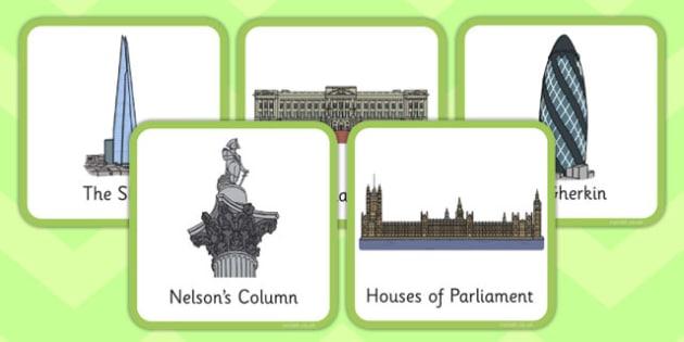 London Small Square Cards - london, small, square, cards, landmarks