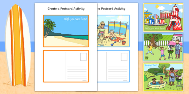 Create a Postcard Activity - postcard, template, craft, design