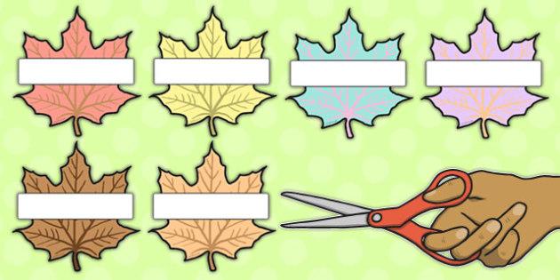 Editable Leaves Neutral Colours - editable, leaves, neutral, colours