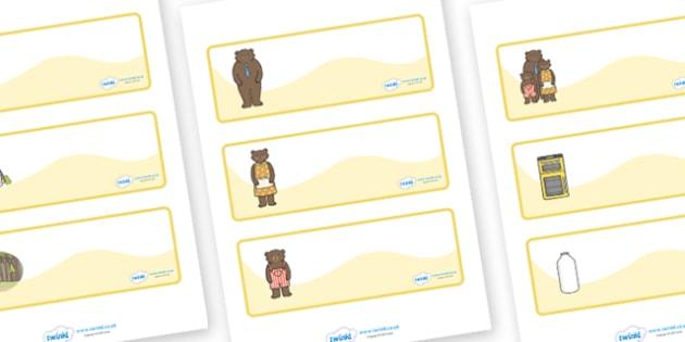 Goldilocks and the Three Bears editable Drawer, Peg, Name Labels - Editable Label Templates, Goldilocks and the Three Bears, Resource Labels, Name Labels, Editable Labels, Drawer Labels, Coat Peg Labels, Peg Label, KS1 Labels, Foundation Labels, Foun