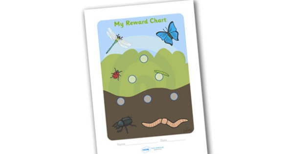 Minibeast Reward Chart (15mm) - Minibeast Reward Chart (15mm), minibeast, reward chart, chart, reward, 15mm, 15 mm, stickers, twinkl stickers, award, certificate, well done, behaviour management, behaviour, minibeasts, caterpillar, beatle, fly