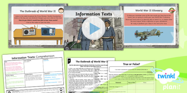 PlanIt Y5 World War II: Battle of Britain Lesson Pack Information Texts