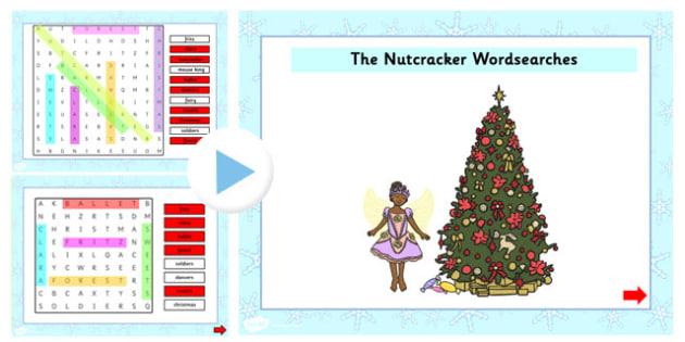 The Nutcracker Interactive Wordsearch - nutcracker, wordsearch