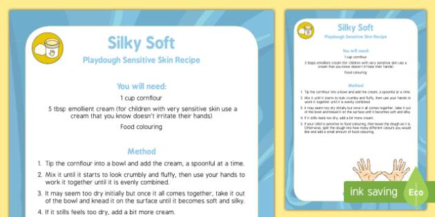 Soft and Silky Playdough Recipe - soft, silky, playdough, recipe
