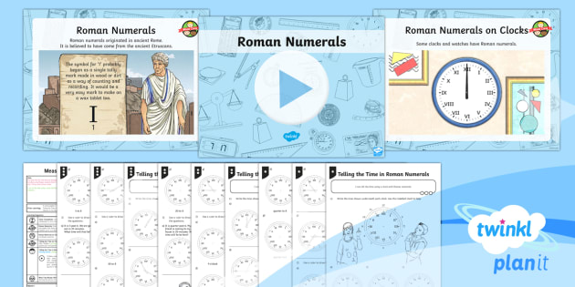 PlanIt Y3 Measurement Lesson Pack Telling the Time (7) - measurement, time, Roman numerals, tell and write the time from an analogue clock including roman nu