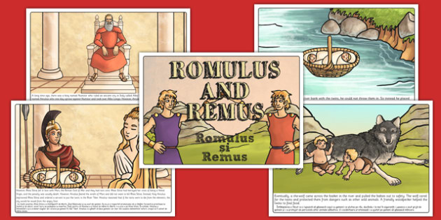 Romulus and Remus Story Romanian Translation - romans, history, traditional tale, primary, Rome, language, translated, information, activity
