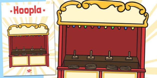 Hoopla Poster - hoopla, poster, summer fair, fayre, prize, win