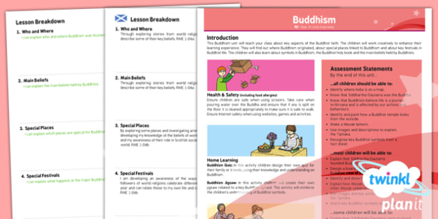 RE: Buddhism Year 4 Planning Overview CfE