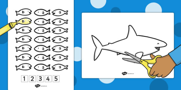 5 Little Fishes Activity - stories, story books, book, activities