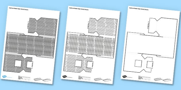 Simple Anderson Shelter Paper Model - anderson shelter, paper model