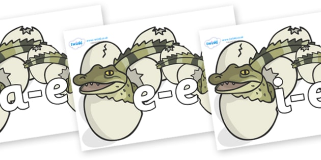 Modifying E Letters on Hatching Aligators - Modifying E, letters, modify, Phase 5, Phase five, alternative spellings for phonemes, DfES letters and Sounds