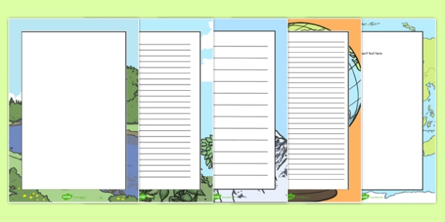 What a Wonderful World Page Borders - page borders, wonderful