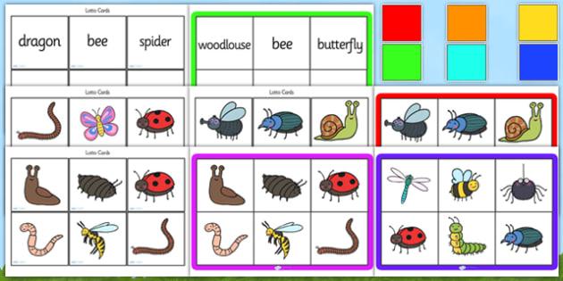 Minibeast Bingo Lotto Game Pack - minibeasts, minibeast bingo, minibeast lotto, minibeast bingo game, minibeast bingo activity, minibeast bingo cards