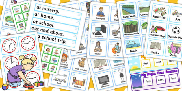 Childminder Visual Timetable Resource Pack - timetable, pack