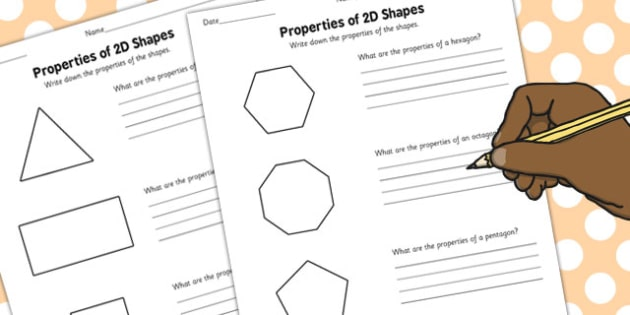 Year 3 Properties of 2D Shapes Activity Sheet Pack - activity, sheets, worksheet