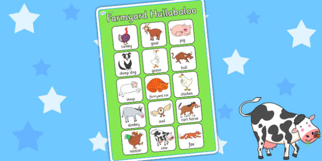 Vocabulary Poster to Support Teaching on Farmyard Hullabaloo - farm, vocab poster, vocab