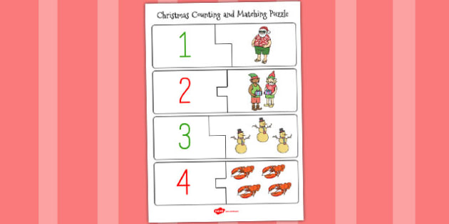Christmas Themed Counting Puzzle - australia, christmas, count