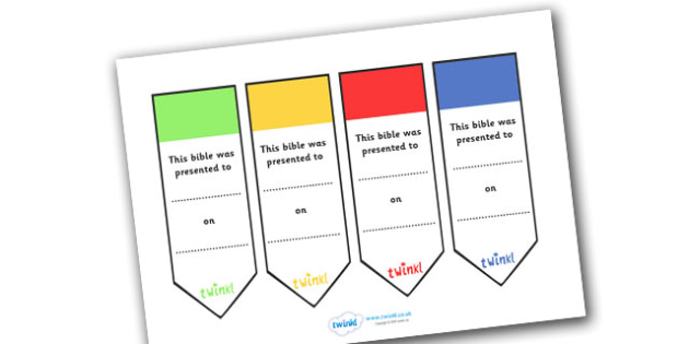 Bible Presentation Bookmarks - Bible, presentation, bookmarks, book, marks, bible stories, religion, christian, aid