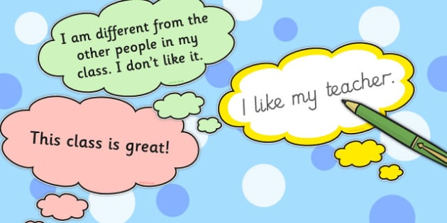 Cut-Out Thought Bubbles with Thoughts - Thought, Bubble, Feel, Think, Thoughts