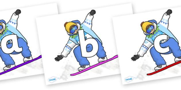 Phoneme Set on Snowboarding - Phoneme set, phonemes, phoneme, Letters and Sounds, DfES, display, Phase 1, Phase 2, Phase 3, Phase 5, Foundation, Literacy