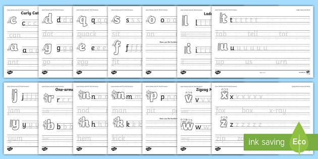 Letter Families and CVC Words Handwriting Activity Sheets - letter families, letter, families, cvc words, handwriting, activity
