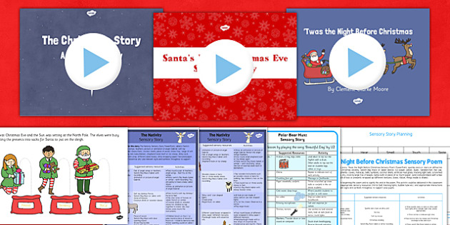 Christmas Sensory Story Resource Pack - christmas, sensory, story, resource, pack
