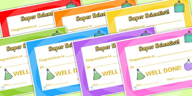 Science Club Certificate - science club, certificates, reward, award, reward certificates, certificate template, behaviour management, class management