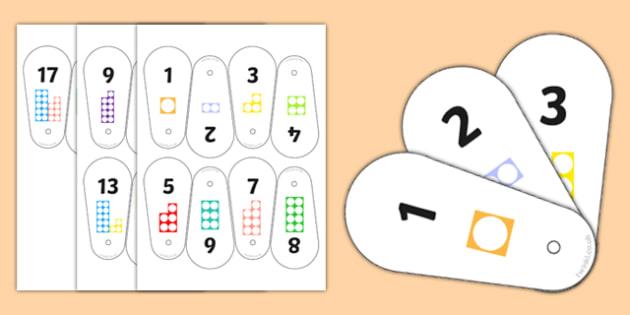 Number Shape Fan 1-20 - number shape, fan, 1-20, number, shape, maths, mathematics, numbers