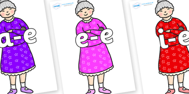 Modifying E Letters on Enormous Turnip Old Woman - Modifying E, letters, modify, Phase 5, Phase five, alternative spellings for phonemes, DfES letters and Sounds