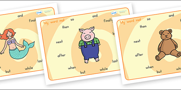 Connectives Word Mats - connectives, literacy, writing, words