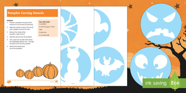 Pumpkin Carving Stencil Activity