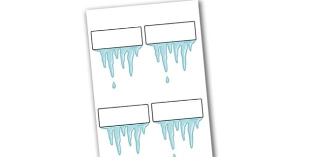 Christmas Self Registration Icicles Editable  - christmas, icicle