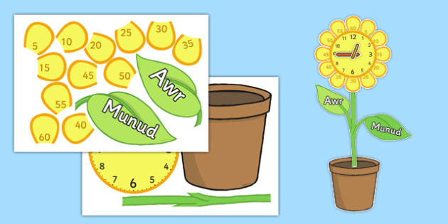 Cloc mawr arddangos - welsh, cymraeg, activity, displays, clocks, cloc, mawr, arddangos