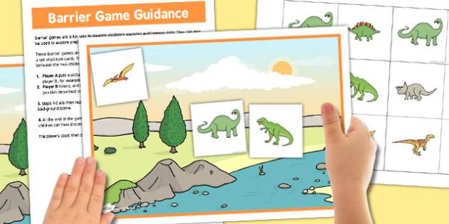 Dinosaur Barrier Game - dinosaur, barrier, game, activity, class