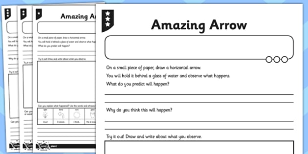 Activity Sheet Amazing Arrow Investigation - activity, amazing, arrow, investigation, worksheet