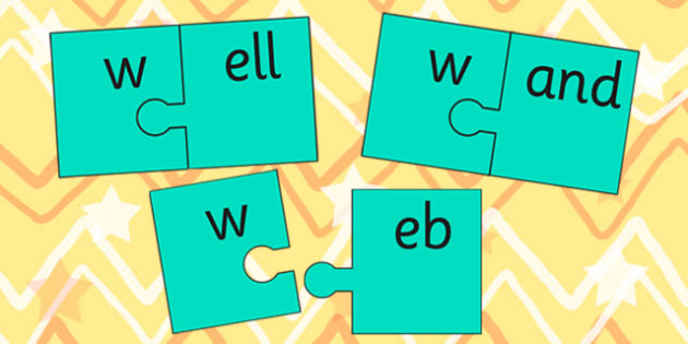 w and Vowel Production Jigsaw Cut Outs - w, vowel, jigsaw, sounds