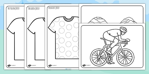 Tour de France Colouring Sheets - le tour, colour, sports, pe