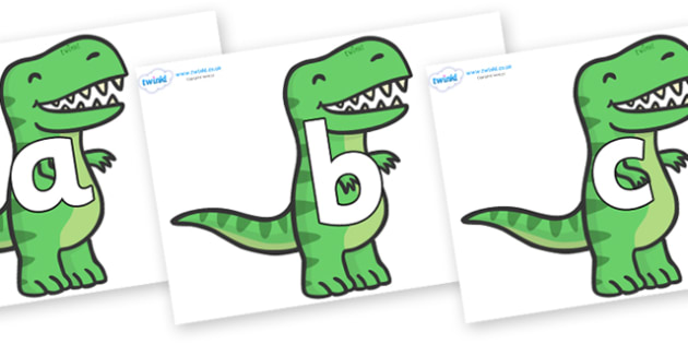 Phoneme Set on T Rex Dinosaurs - Phoneme set, phonemes, phoneme, Letters and Sounds, DfES, display, Phase 1, Phase 2, Phase 3, Phase 5, Foundation, Literacy